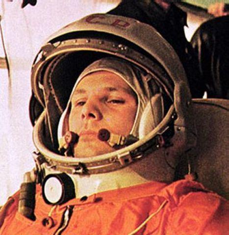 Yuri Gagarin is the first man in space