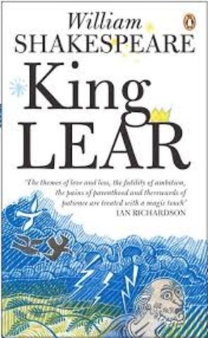Shakespeare writes King Lear