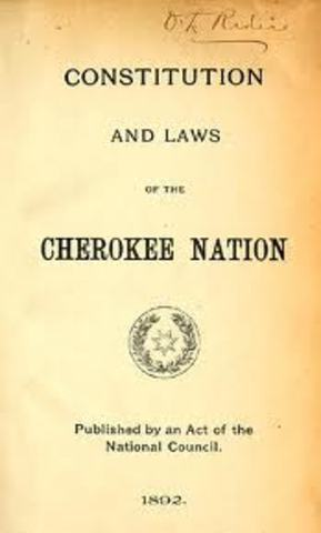 Cherokee Constitution was written