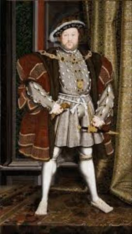 With the supremacy Act, Henry the 8th proclaims himself head of the Church of England