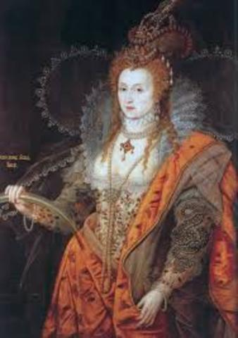 Elizabeth the first becomes queen of England