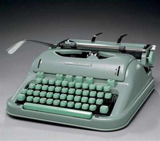 FIRST MANUAL TYPE WRITER