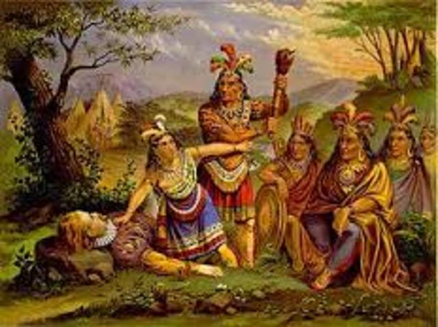 Pocahontas and Captain Smith