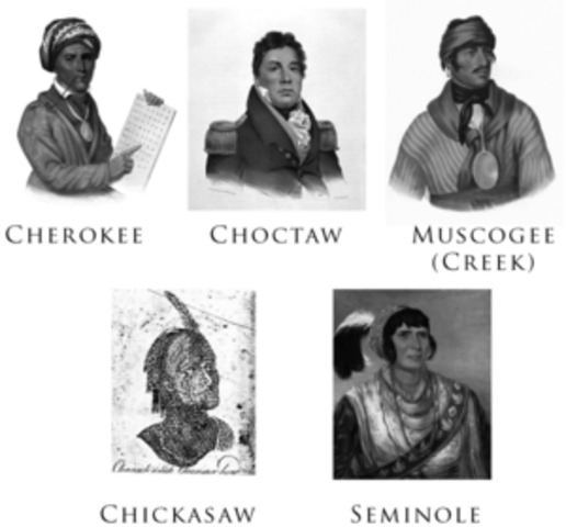 Choctaw, Creek, and Chickasaw Removal