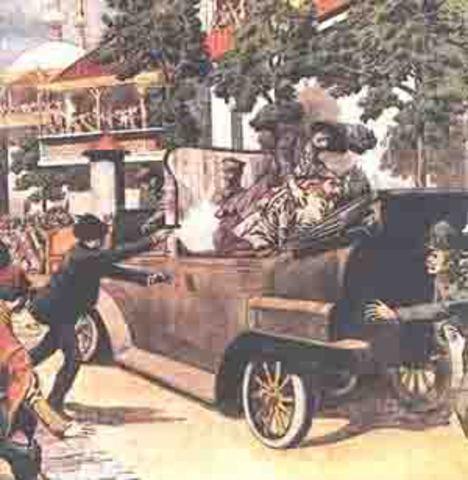 The assassination of archduke Franz Ferdinand of Austria
