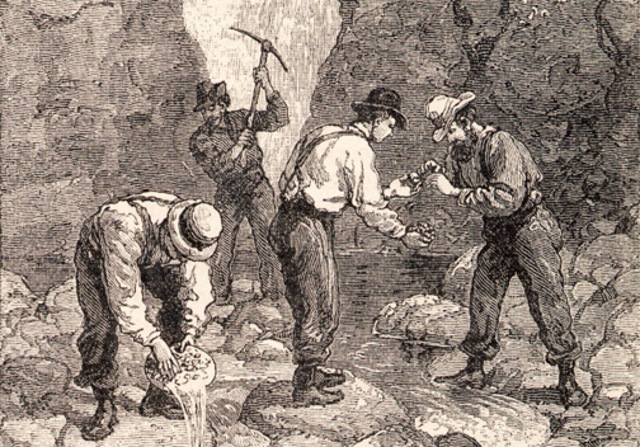 Gold discovered in cherokee nation causing gold rush