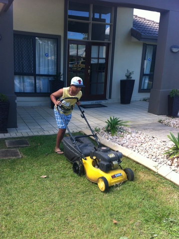 Mowing the Lawn - First Time.
