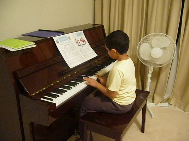 First Instrument - Piano.