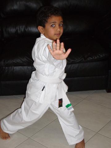 Starting Karate.