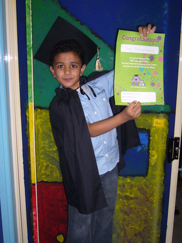 Graduating from ABC Learning Center.