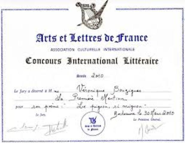 Medalha da International des Arts et des Lettres e outras distinções internacionais