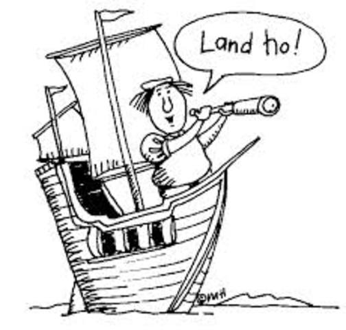 Christopher Columbus spots lands in North America