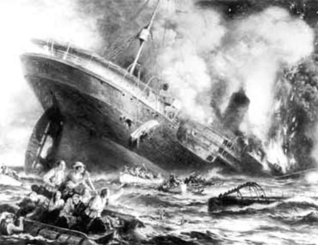 U-boat sinks the Lusitania!!