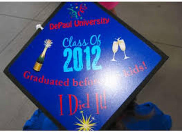 Graduating from DePaul with Bechelor Degree