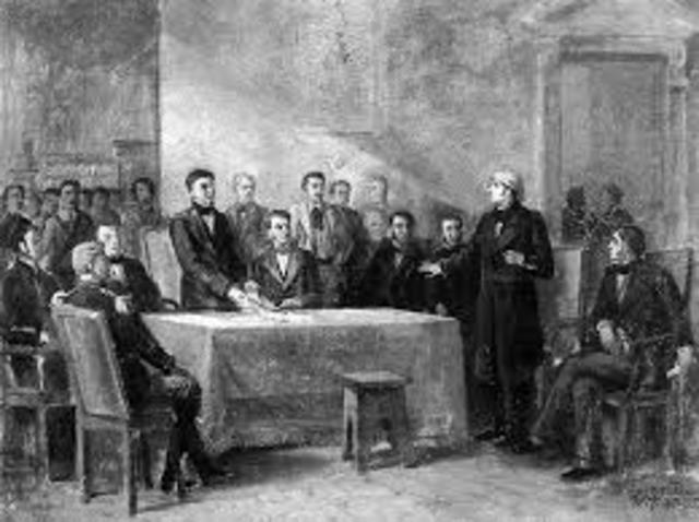 Ignaguració del congreso de Chilpanzingo.