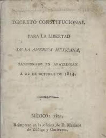 Decreto constitucional para al libertad de la America mexicana.
