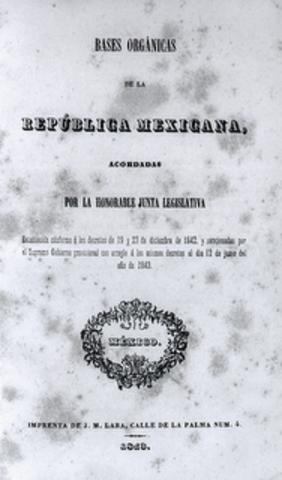 Bases organicas de la segunda república centralista.
