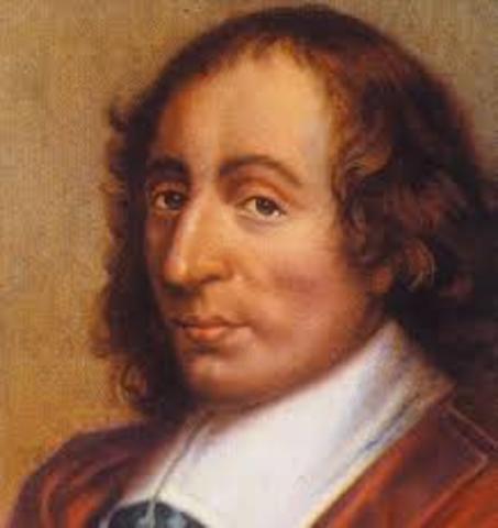 Blaise Pascal cria a primeira calculadora.