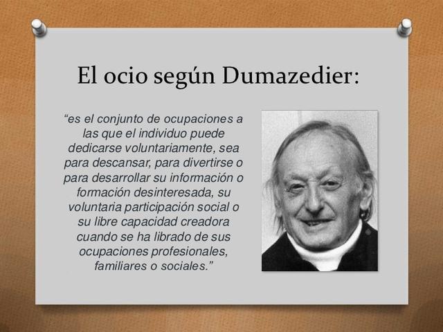 """Dumazedier pública """"Hacia una sociedad de ocio"""""""