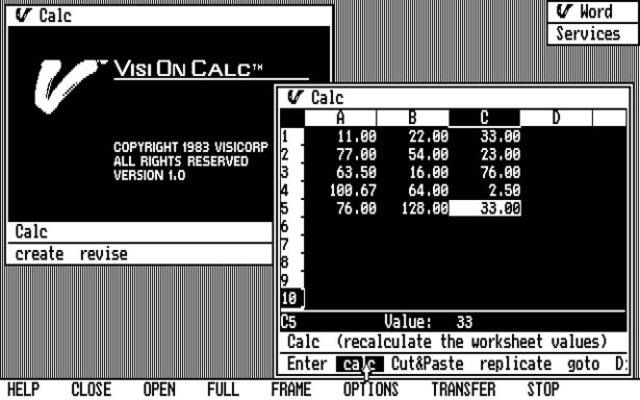 Первый текстовый редактор и табличный процессор