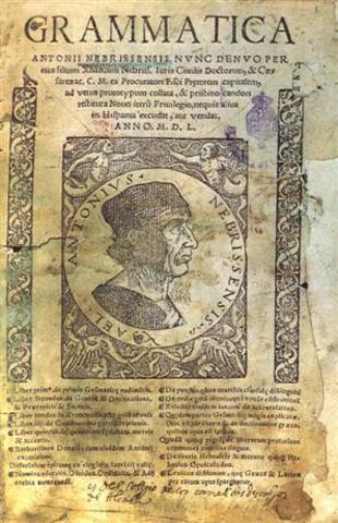 Elio Antonio de Nebrija publicó la primera gramática