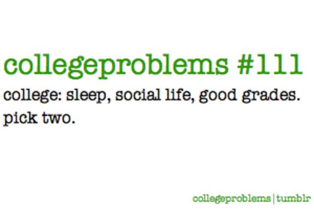 Get good grades throughout college