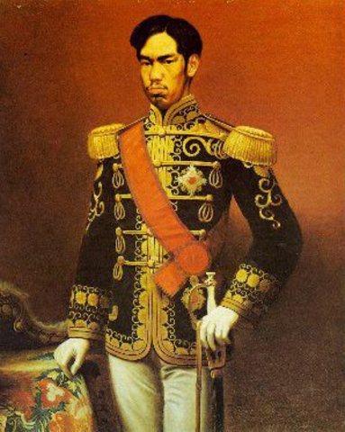 Emperador Mutsu-Hito llega al poder en Japón