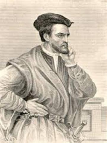 Jacques Cartier claims land in Canada