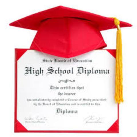 Graduate from high school.