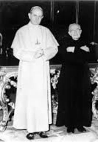 Audiencia especial con el papa Pablo VI