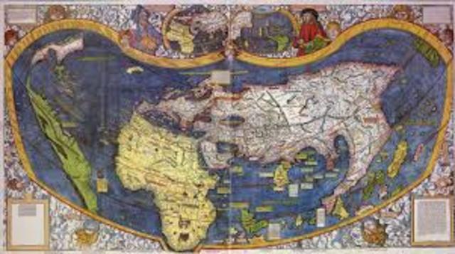 Amerigo Vespucci charts New World