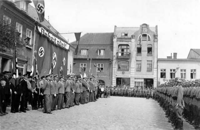 Bischofsburg is captured by Soviet Forces
