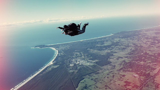 Go skydiving for the first and last time