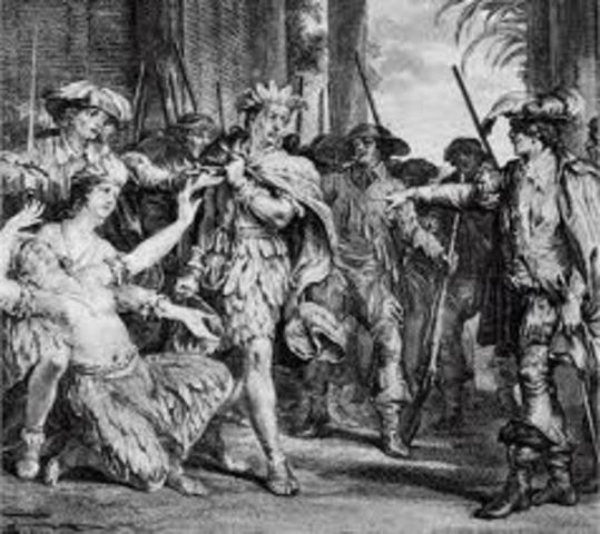 F. Pizzaro meets Atahualpa