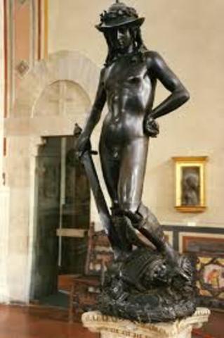 donatello creates his David statue