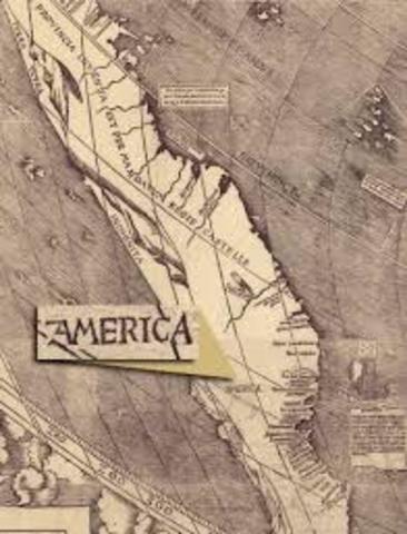 amerigo vespucci charts new world coast