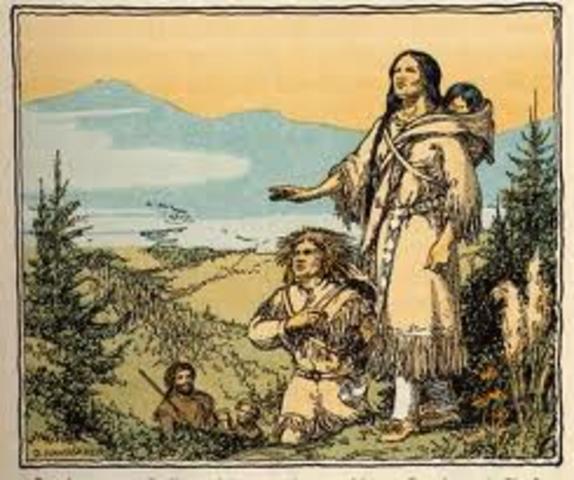 Sacagawea and Corps Leave Fort Mandan