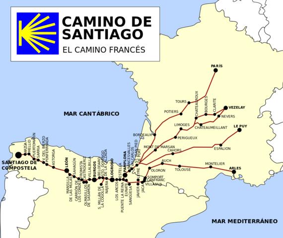 El camino de Santiago  (1200DC)