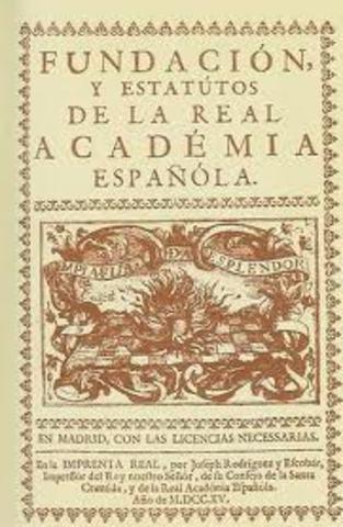 Fundación de la real academia española (1713)