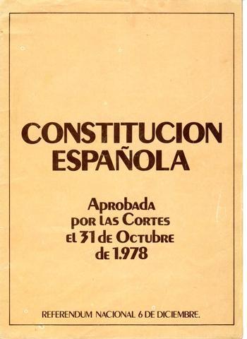 Declaración de la constitución española (1978)