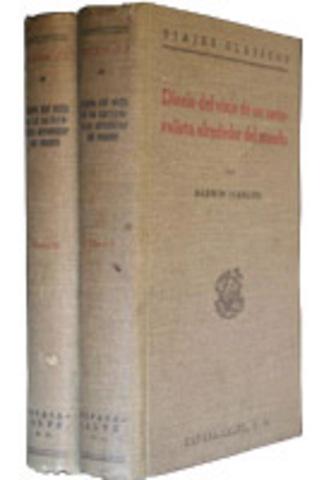 Darwin escribe su diario.