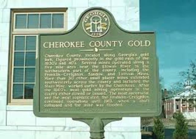 Gold on Cherokee Land