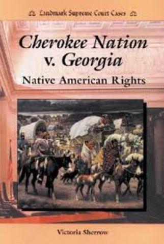 Cherokee V Georgia