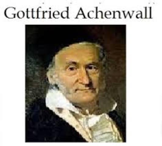 GOTTFRIEN  ACHENWALL