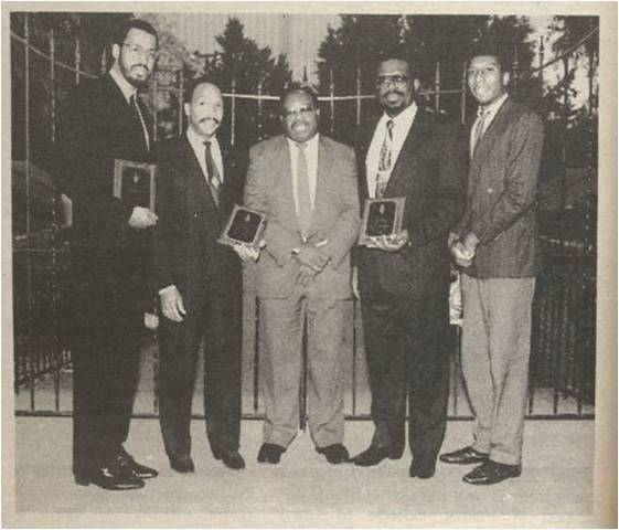 ABCA Officers at  Palmer campus, 1990