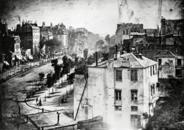 The first daguerreotype was created.