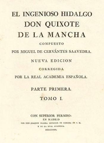 Real Academia edita el Quijote de la Mancha