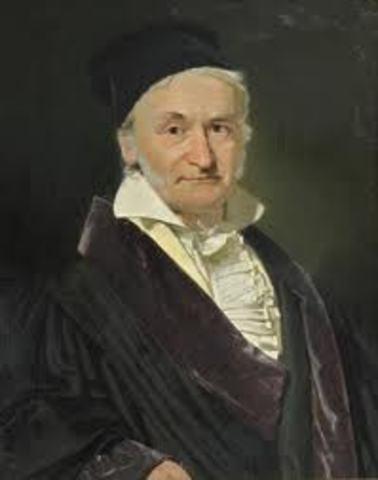 Carl Friedrich Gauss año 1823