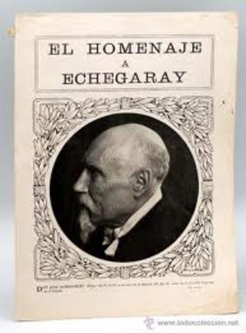 José Echegaray ganó el Premio Nobel de Literatura