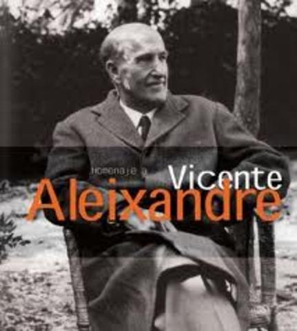 Vicente Aleixandre, Premio Nobel de Literatura.